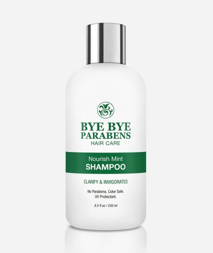 Nourish Mint Clarifying Shampoo Bye Bye Parabens Natural Hair Product