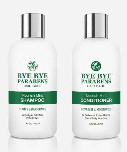 Nourish Mint Set Bye Bye Parabens Natural Hair Product