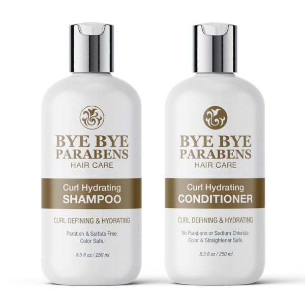 Curl Hydrating Shampoo + Conditioner | Bye Bye Parabens Hair Care Products