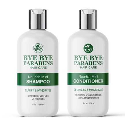 Nourish Mint Shampoo + Conditioner | Bye Bye Parabens Hair Care Products